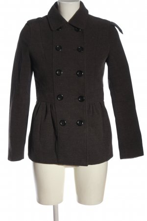 H&M Divided Short Coat brown flecked casual look