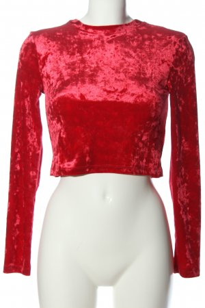 H&M Divided Langarm-Bluse rot Elegant