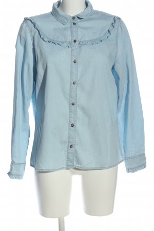 H&M Divided Langarm-Bluse blau Casual-Look