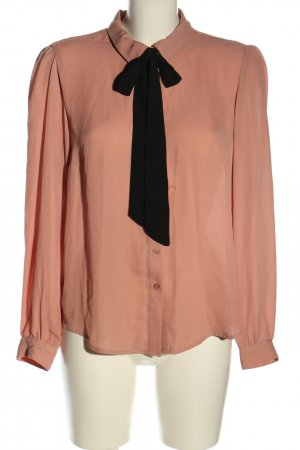 H&M Divided Langarm-Bluse nude-schwarz Business-Look