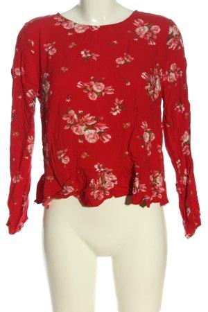 H&M Divided Langarm-Bluse rot-pink Allover-Druck Elegant