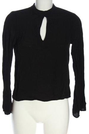 H&M Divided Langarm-Bluse schwarz Business-Look