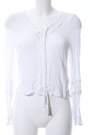 H&M Divided Langarm-Bluse weiß Casual-Look