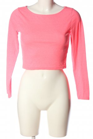 H&M Divided Langarm-Bluse pink meliert Casual-Look