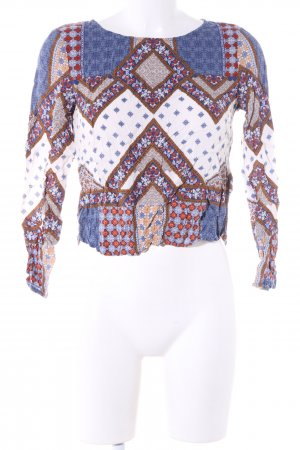 H&M Divided Langarm-Bluse Mustermix Casual-Look