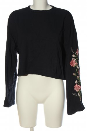 H&M Divided Langarm-Bluse Blumenmuster Casual-Look