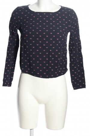 H&M Divided Langarm-Bluse Allover-Druck Business-Look