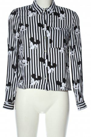 H&M Divided Long Sleeve Blouse black-white allover print casual look