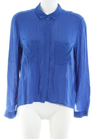 H&M Divided Langarm-Bluse blau Business-Look