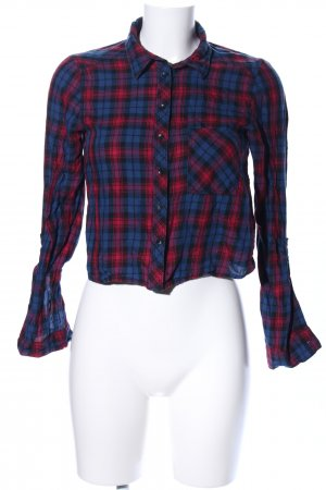 H&M Divided Langarm-Bluse Karomuster Casual-Look