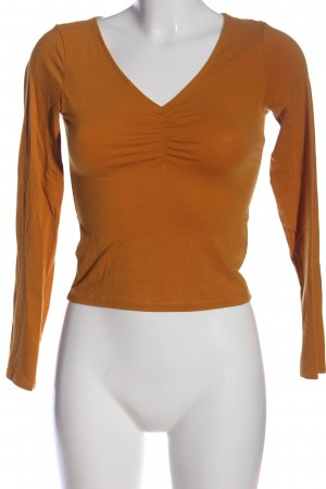 H&M Divided Langarm-Bluse hellorange Casual-Look