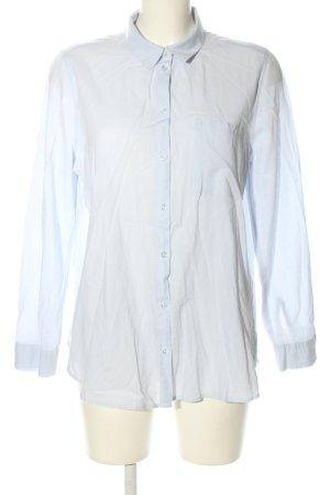H&M Divided Langarmhemd blau Business-Look
