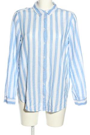 H&M Divided Langarmhemd blau-weiß Streifenmuster Casual-Look