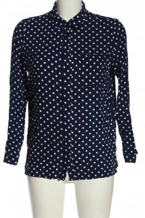 H&M Divided Long Sleeve Shirt blue-white spot pattern business style