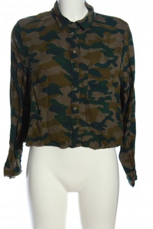 H&M Divided Langarmhemd Camouflagemuster Casual-Look