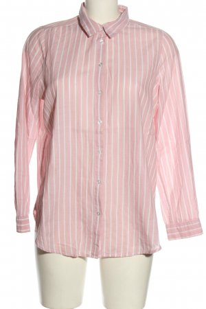 H&M Divided Langarmhemd weiß-pink Allover-Druck Casual-Look
