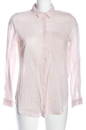 H&M Divided Langarmhemd nude-weiß Streifenmuster Business-Look