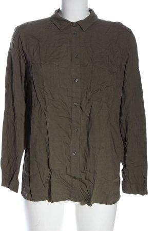 H&M Divided Langarmhemd khaki Business-Look