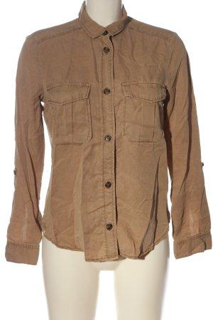 H&M Divided Camicia a maniche lunghe marrone stile casual