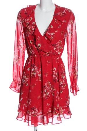 H&M Divided Longsleeve Dress red-white allover print elegant