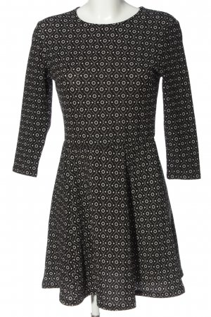 H&M Divided Longsleeve Dress black-white allover print casual look