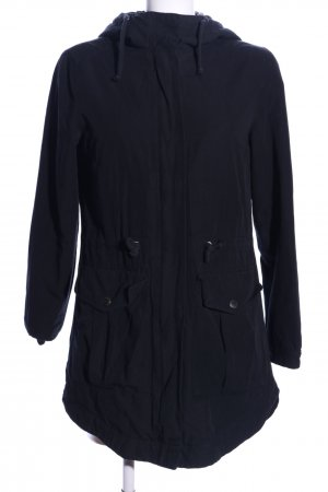 H&M Divided Chaqueta larga azul look casual