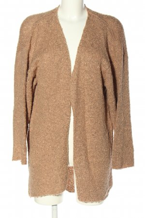 H&M Divided Strickjacke braun meliert Casual-Look