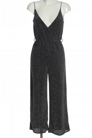 H&M Divided Langer Jumpsuit schwarz-silberfarben Casual-Look