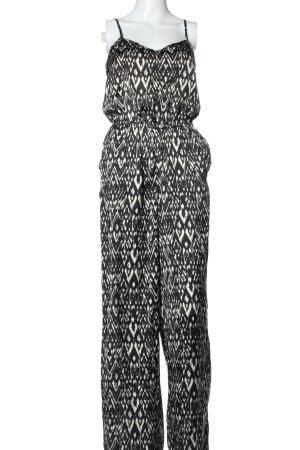 H&M Divided Langer Jumpsuit schwarz-weiß Casual-Look