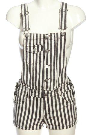 H&M Divided Latzhose schwarz-weiß Streifenmuster Casual-Look