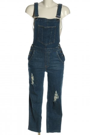 H&M Divided Latzjeans blau Casual-Look