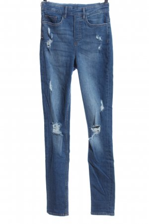 H&M Divided Bib Denim blue casual look