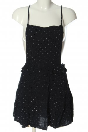 H&M Divided Pinafore Overall Skirt black-white spot pattern casual look