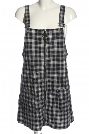 H&M Divided Pinafore Overall Skirt black-white check pattern casual look