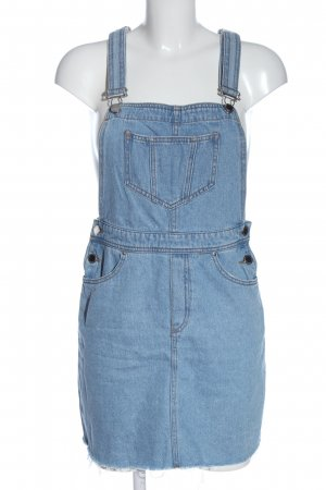 H&M Divided Pinafore Overall Skirt blue casual look