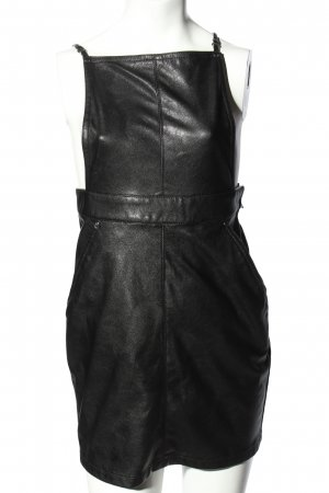 H&M Divided Pinafore Overall Skirt black wet-look