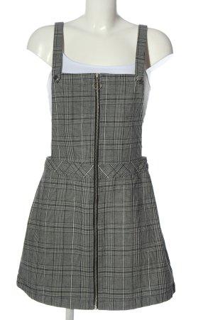 H&M Divided Overgooier overall rok zwart-wit geruite print casual uitstraling