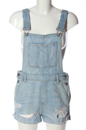 H&M Divided Pantalón corto tipo peto azul look casual