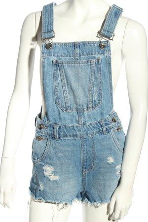H&M Divided Szorty ogrodniczki niebieski W stylu casual