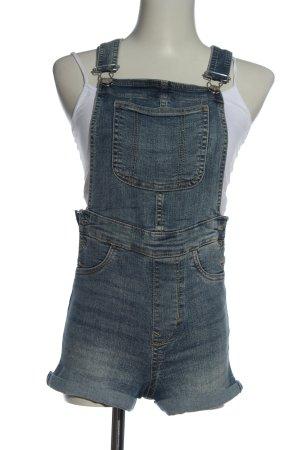 H&M Divided Pantaloncino con bretelle blu stile casual