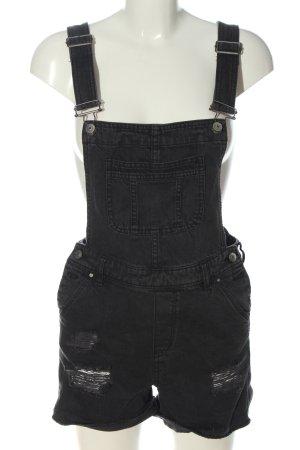 H&M Divided Pantalón corto tipo peto gris claro look casual