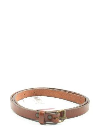 H&M Divided Cinturón de cuero marrón look casual