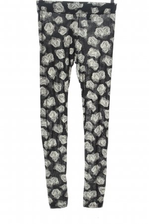 H&M Divided Leggings black-light grey allover print casual look