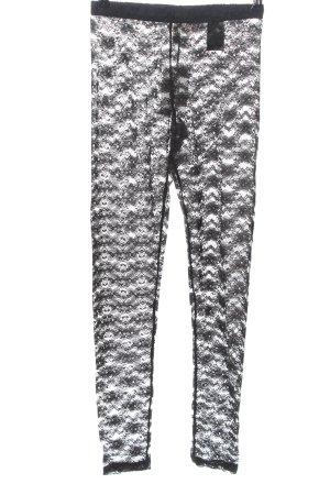 H&M Divided Leggings black weave pattern casual look