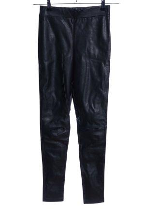 H&M Divided Leggings schwarz Glanz-Optik