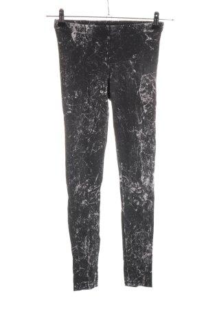 H&M Divided Leggings schwarz-weiß Casual-Look