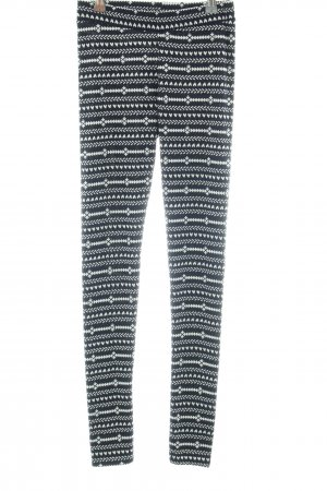 H&M Divided Leggings schwarz-weiß grafisches Muster Casual-Look