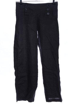 H&M Divided Pantalón de lino negro look casual