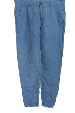 H&M Divided Leinenhose blau Casual-Look