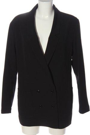 H&M Divided Long-Blazer schwarz Casual-Look